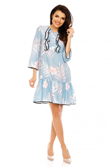 Rochie NAOKO GLB-AT97 PASTEL FLOWERS Multicolor