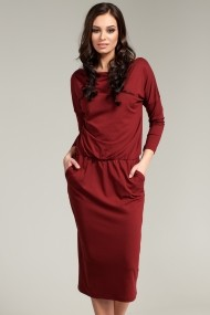 Dress BeWear B014_maroon maroon