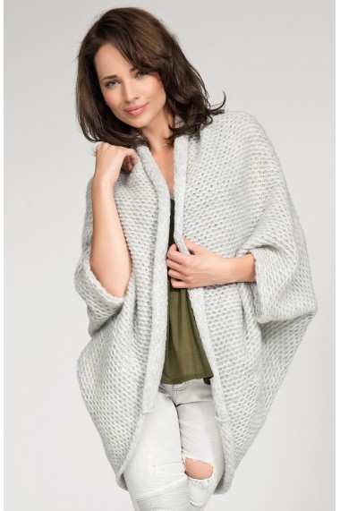 Cardigan Numinou GLB-NU s02-light grey Gri - els