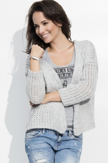 Cardigan Numinou GLB-NU s18 light grey Gri - els