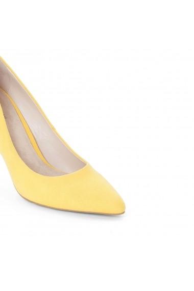 9346025296 ... Pantofi cu toc La Redoute Collections GDO666 galben Galben - els ...
