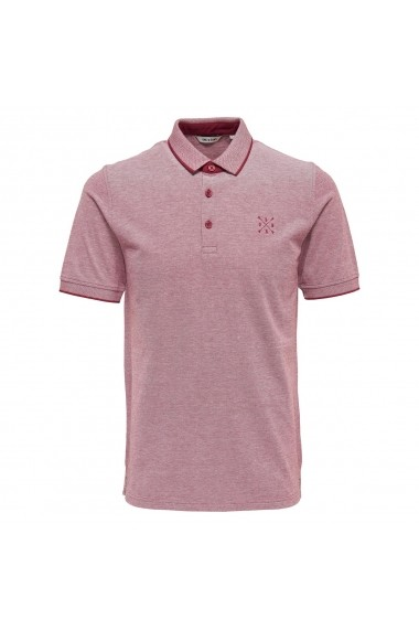 Tricou polo ONLY & SONS GEQ554_Rouge Rosu