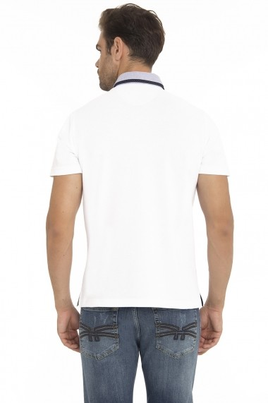 Tricou Polo Denim Culture MAS-B-204 WEISS Alb - els
