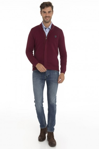 Cardigan Denim Culture MAS-B-30130 BORDOAUX Bordo - els
