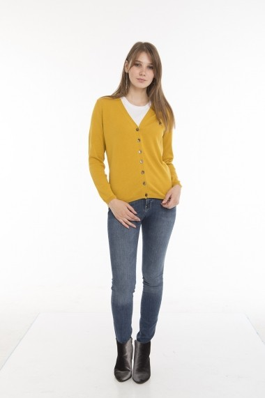 Cardigan Denim Culture MAS-B-35688 SENF Galben - els