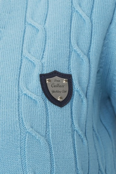Cardigan  Denim Culture MAS-B-37100 ICE BLAU Albastru - els