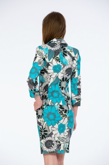 Sacou cu print floral aqua marca Be You