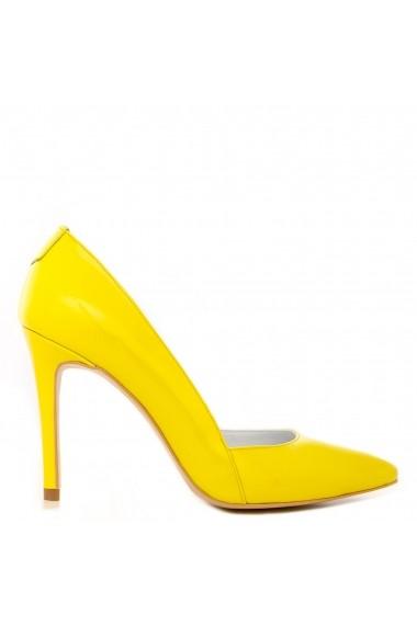 Pantofi cu toc CONDUR by alexandru din lac galben, toc de 9 cm