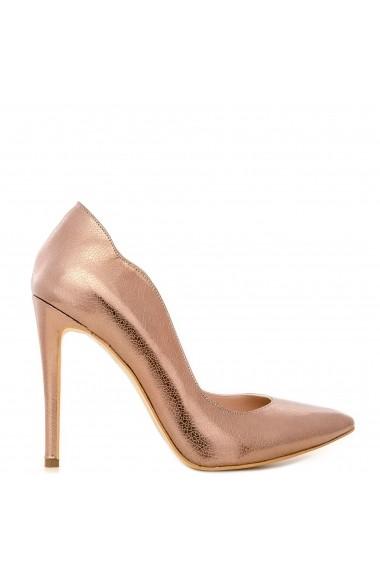 Pantofi cu toc CONDUR by alexandru din presaj aramiu, toc inalt