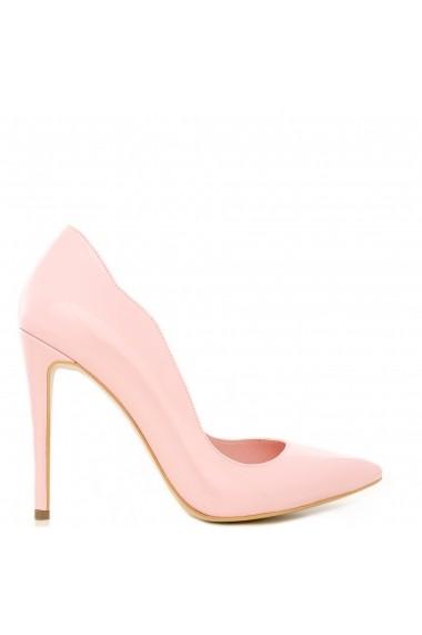 Pantofi cu toc CONDUR by alexandru din lac roz, toc inalt