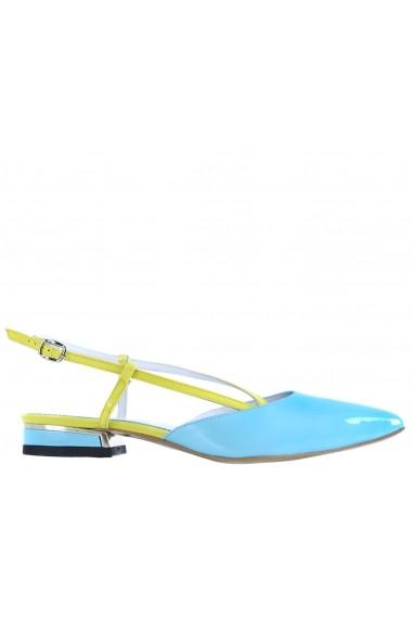 Sandale pentru femei CONDUR by alexandru bleu cu galben