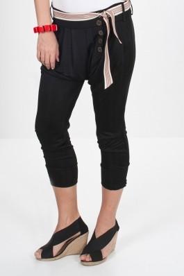 Pantalon Lo Spaccio Hazem negru, preturi, ieftine