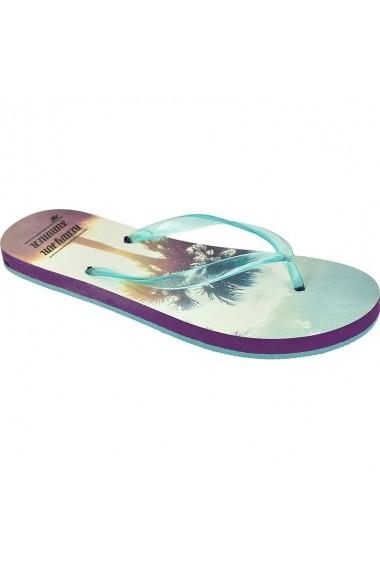 Papuci pentru femei 4f  W C4L16-KLD006 turkusowe