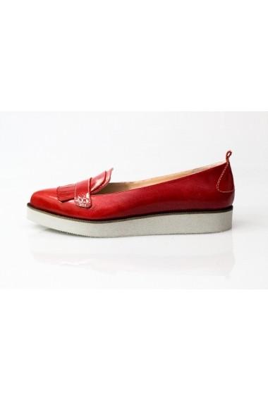 Pantofi pentru femei Thea Visconti rosu-breton cu talpa ortopedica