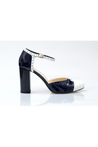 Pantofi pentru femei Thea Visconti bleumarin cu alb