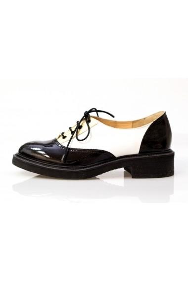 Pantofi Thea Visconti negru-alb-auriu