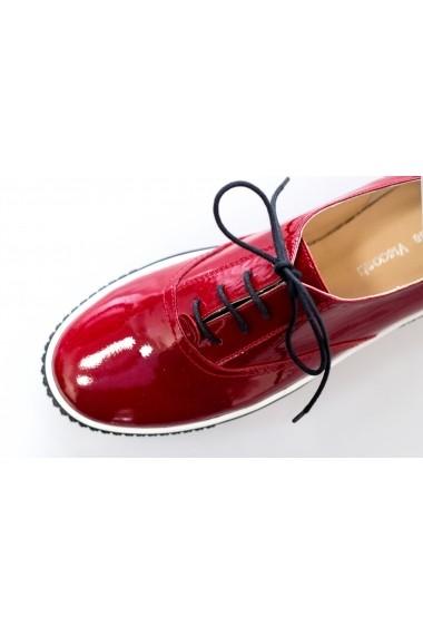 Pantofi Thea Visconti rosii cu talpa Celeste