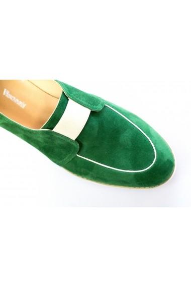 Pantofi Thea Visconti verde-velur