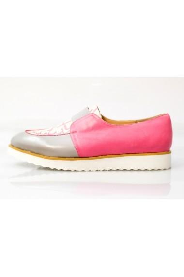 Pantofi Thea Visconti gri-roz