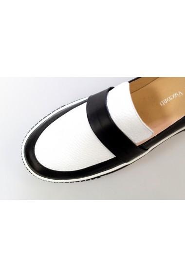 Pantofi Thea Visconti alb-negri