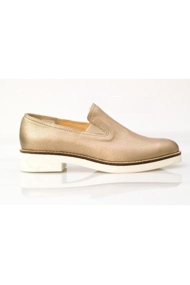 Pantofi Thea Visconti bronz cu talpa Gema