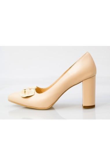 Pantofi Thea Visconti bej cu funda print
