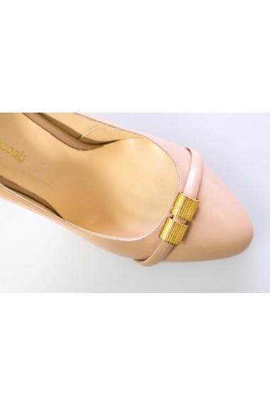 Pantofi Thea Visconti nude cu toc alb