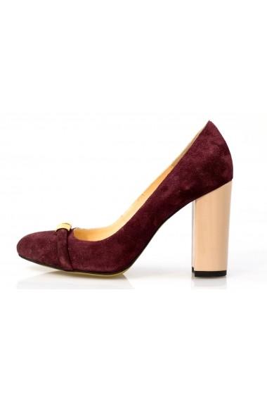 Pantofi Thea Visconti visinii cu toc nude