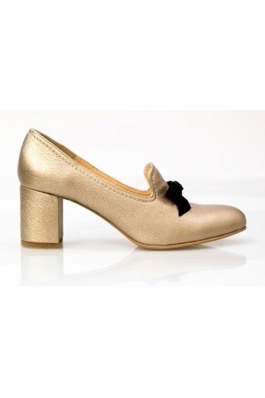 Pantofi Thea Visconti bronz cu funda neagra