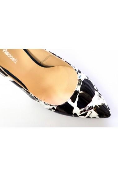 Pantofi Thea Visconti marmorati cu toc galben