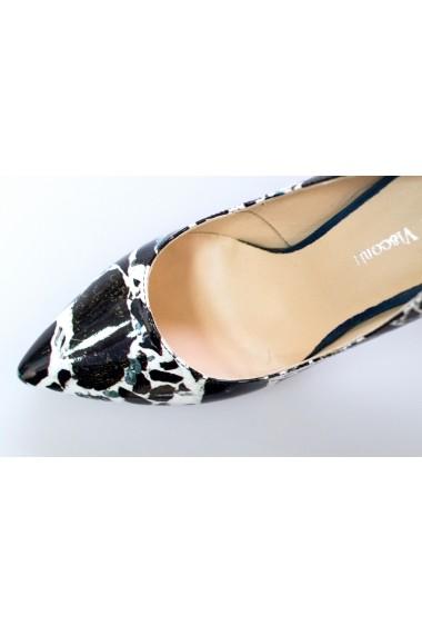 Pantofi Thea Visconti marmorati cu toc verde