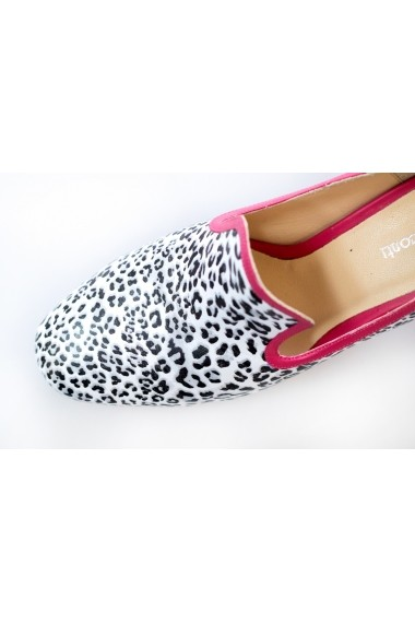 Pantofi Thea Visconti fucsia cu print