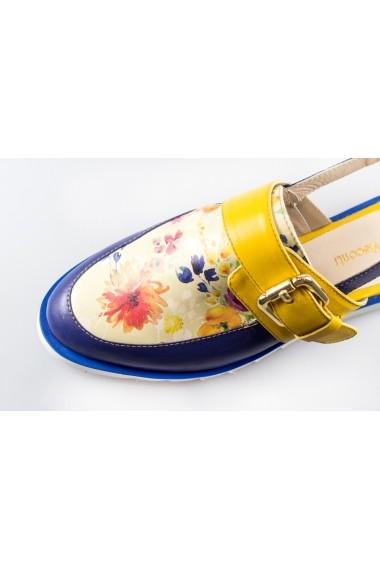 Sandale pentru femei Thea Visconti albe cu talpa ortopedica