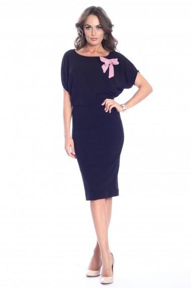 Rochie neagra Roserry midi tricotata