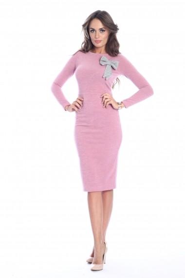 Rochie roz roserry midi tricotata
