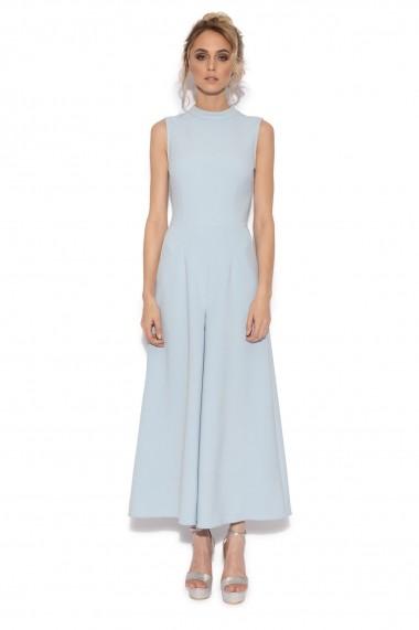 Salopeta NISSA culottes eleganta Albastru Deschis