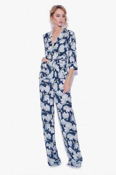 Pantaloni largi largi NISSA cu imprimeu floral IMPRIMAT