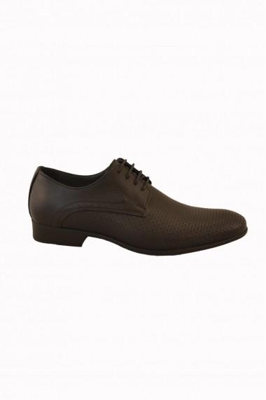 Pantofi pentru barbati Mopiel negri din piele