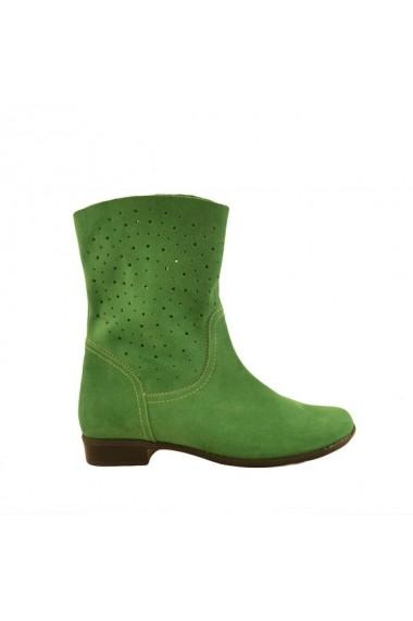 Cizme pentru femei Mopiel verzi din piele naturala