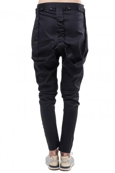 Pantalon Santa Barbara cu tur si bretele SBR-16-PW02BLACK