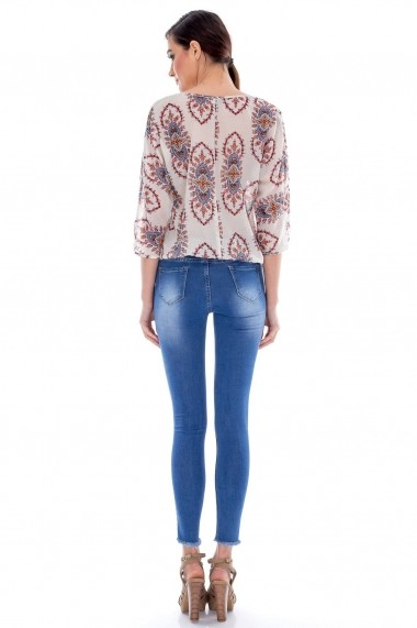 Jeans Roh Boutique skiny - TR130 albastru