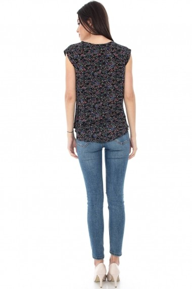 Bluza Roh Boutique neagra, multicolora - BR1323 negru