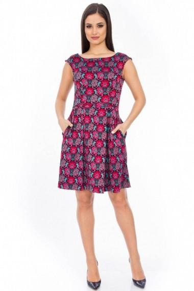 Rochie Roh Boutique eleganta, brodata - DR1743 rosu|negru