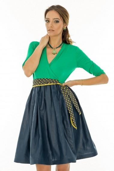 Rochie Roh Boutique vintage - DR2007 bleumarin verde