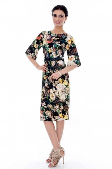 Rochie Roh Boutique midi, florala - DR2381 multicolor