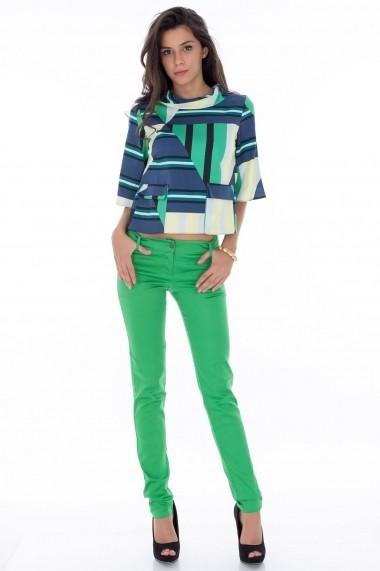 Pantaloni Roh Boutique verzi conici - TR125 verde