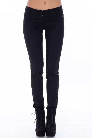 Pantaloni Roh Boutique negri conici - TR124 negru