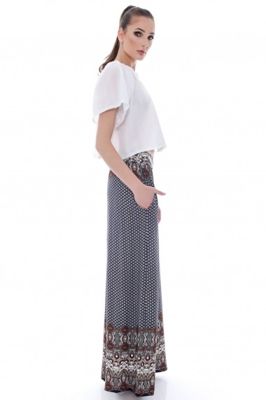 Pantaloni Roh Boutique largi, aztec - TR138 multicolor