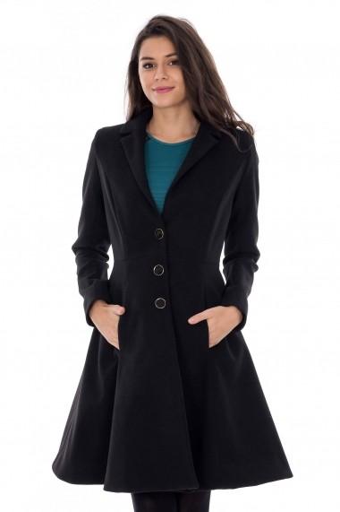 Palton Roh Boutique elegant - JR171 negru