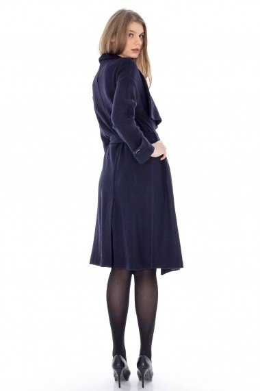 Trench Roh Boutique din lana - JR220 bleumarin
